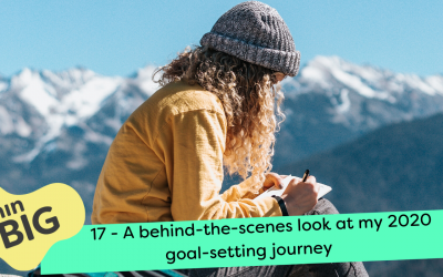 A behind-the-scenes look at my 2020 goal-setting journey